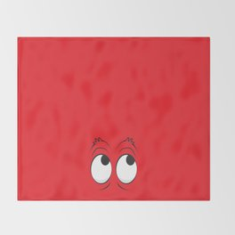 Monster Eyes Red Throw Blanket