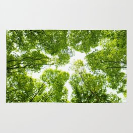 New green leaves Rug