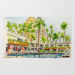The Hollywood Roosevelt Pool Rug