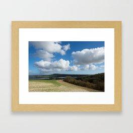 Flooded Valley Framed Art Print
