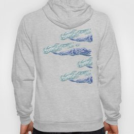 Mt. Craiului-Distant Snow- 遠雪 : linocut Hoody