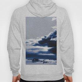 arctic blue landscape Hoody