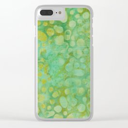 Green Batik 02 Clear iPhone Case
