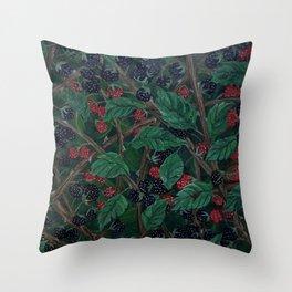 Blackberry Bonanza Throw Pillow