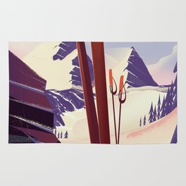 Grand Targhee, Alta, Wyoming ski poster Rug