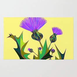 Kentucky Wildflower, Silybum Marianum Rug