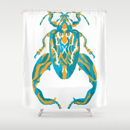 Sagra Beetle _ Psychedelic bug 3.2 _ Besouro Independente Shower Curtain