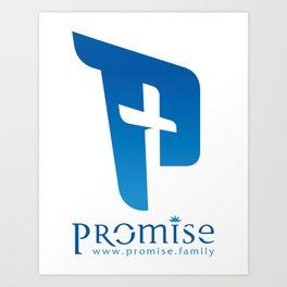 blue promise logo with website Art Print