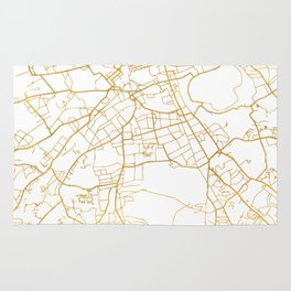 EDINBURGH SCOTLAND CITY STREET MAP ART Rug