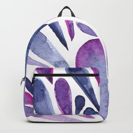 Watercolor artistic drops - purple and indigo Backpack