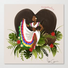 seychelles sega dancer Canvas Print