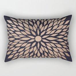 Rose Gold Flower Rectangular Pillow