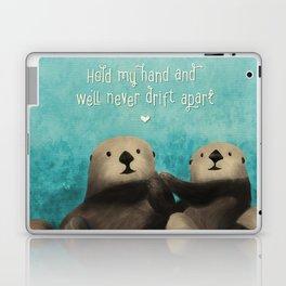 Sea Otters in Love Laptop & iPad Skin