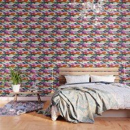 colored doggie pattern Wallpaper