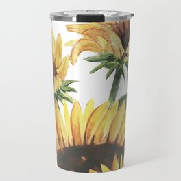 Sunflowers and Honey Bees Travel Mug