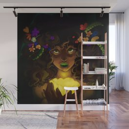 Curly and floral Wall Mural
