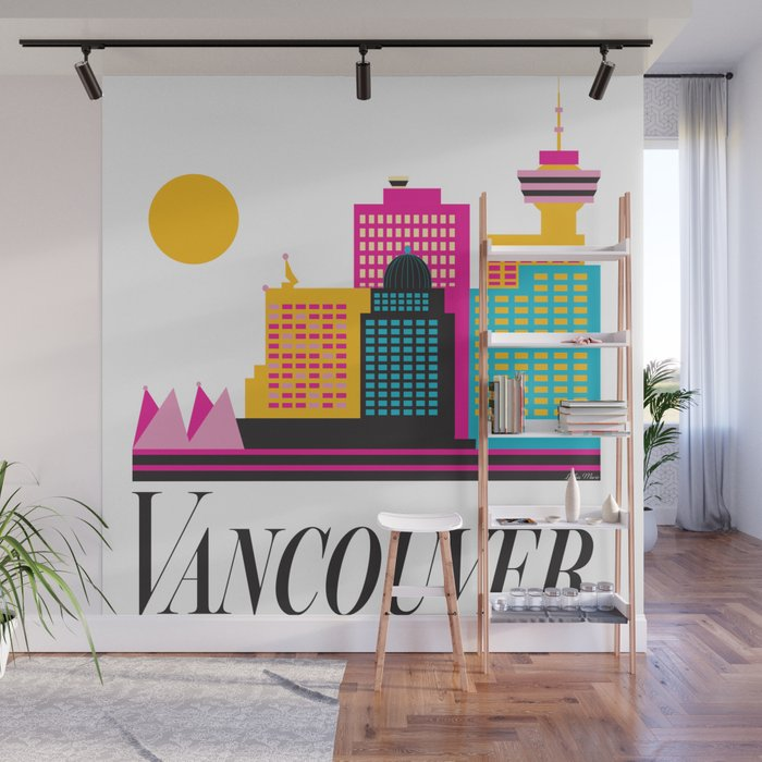 Vancouver Coal Harbour Wall Mural