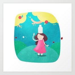 The Milkmaid and the Pot of Milk Art Print