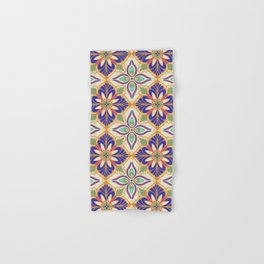 Colorful mediterranean tile Hand & Bath Towel