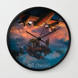 CheckiO islands Wall Clock