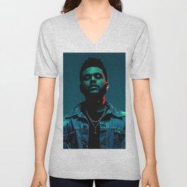 The Weeknd Portrait Unisex V-Neck