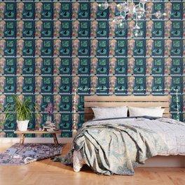 Creature Comforts Mid-Century Interior With Black Cat Wallpaper