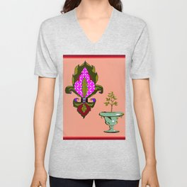 Fleur de Lis Home Decor Unisex V-Neck