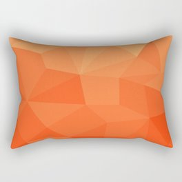 Abstract Geometric Gradient Pattern between Pure Red and very light Orange Rectangular Pillow