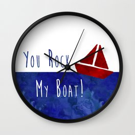 Your Rock My Boat Wall Clock