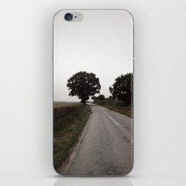 misty road in derbyshire iPhone Skin