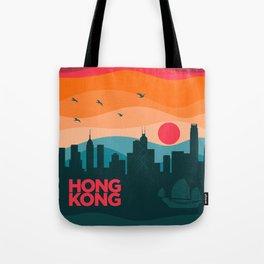 Vintage Travel: Hong Kong Tote Bag