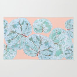 Tropical Sea Grape Leaves Rug