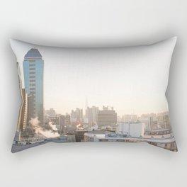Peaceful Coffee Drinking Morning in Urban City Rectangular Pillow