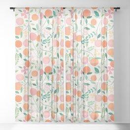 Vanilla Peaches Sheer Curtain