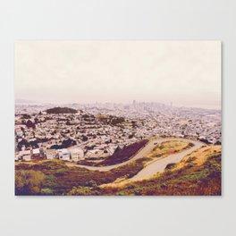 Misty Frisco (San Francisco sous la brume) Canvas Print