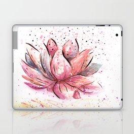 Lotus Flower Watercolor Art Laptop & iPad Skin