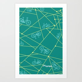 Emerald Bike Ride Art Print