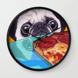 Hungry Pug Wall Clock