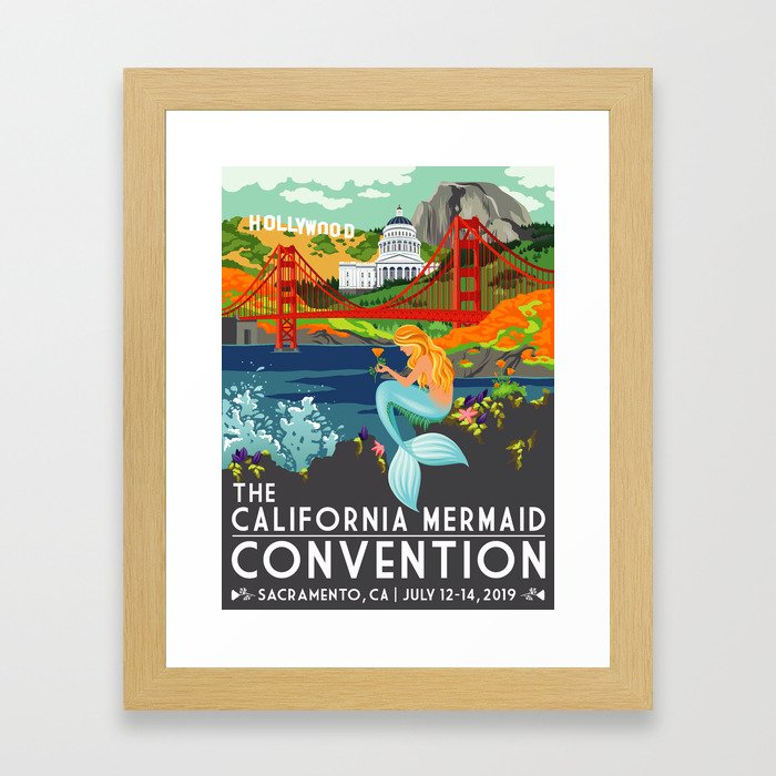 Poster Art ·•· California Mermaid Convention Framed Art Print