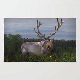 Elk or Wapiti Photographic Nature Portrait Rug