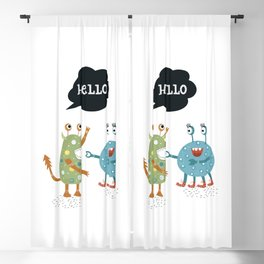 HELLO Blackout Curtain