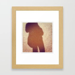 Shadow in the AZ desert... Framed Art Print