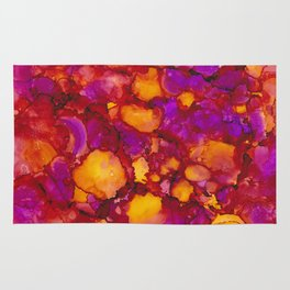 Happy spring - Alcohol ink drawing Rug