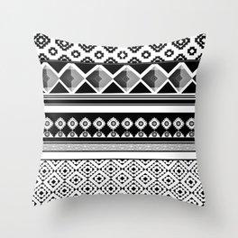 Modern Black 2 Throw Pillow