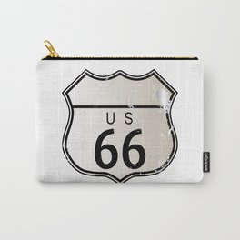 Blank Route 66 Sign Carry-All Pouch