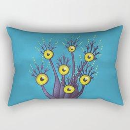 Tree Monster With Yellow Eyes | Digital Art Rectangular Pillow