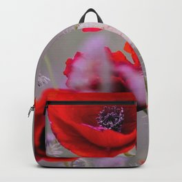 poppies in the fog Backpack