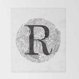 Succulent R Throw Blanket