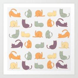 Cat day Art Print