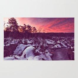 Great Falls Winter Twilight - Violet Velvet Fantasy Rug